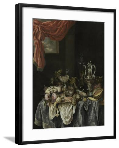 Sumptuous Still Life, 1654-Abraham Hendricksz van Beijeren-Framed Art Print