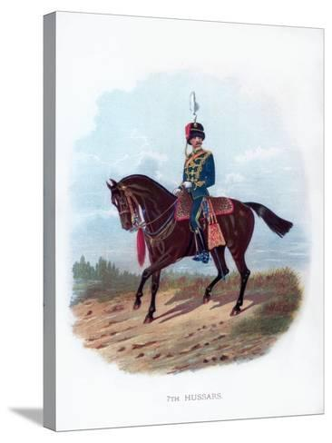 7th Hussars, 1889--Stretched Canvas Print
