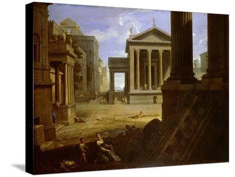 Square of an Ancient City, End 1630s-Jean Le Maire-Stretched Canvas Print