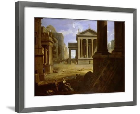 Square of an Ancient City, End 1630s-Jean Le Maire-Framed Art Print
