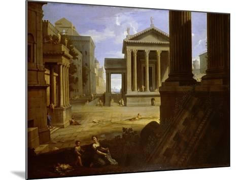 Square of an Ancient City, End 1630s-Jean Le Maire-Mounted Giclee Print