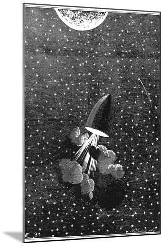 Jules Verne (1828-190), Autour De La Lune, 1865--Mounted Giclee Print