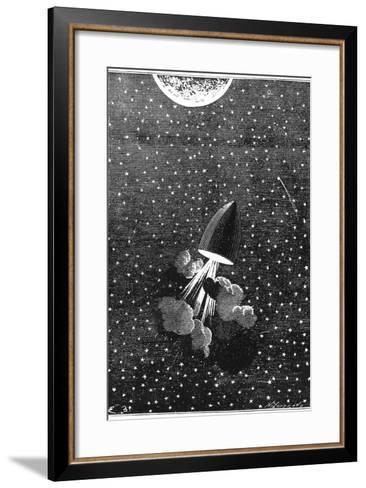 Jules Verne (1828-190), Autour De La Lune, 1865--Framed Art Print