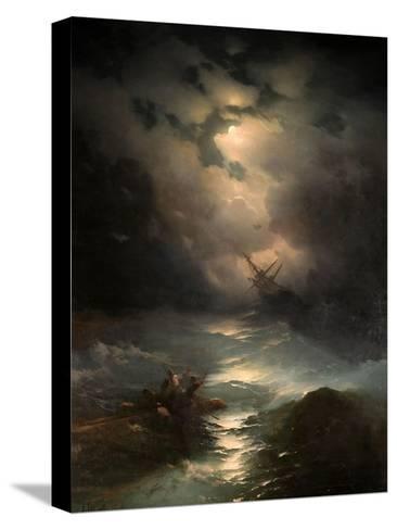 North Sea Storm, 1865-Ivan Konstantinovich Aivazovsky-Stretched Canvas Print