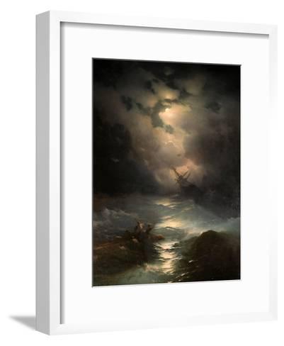 North Sea Storm, 1865-Ivan Konstantinovich Aivazovsky-Framed Art Print