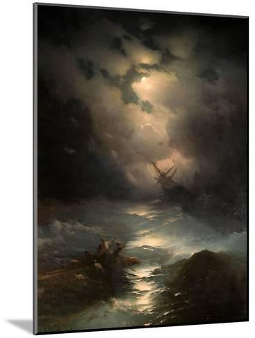 North Sea Storm, 1865-Ivan Konstantinovich Aivazovsky-Mounted Giclee Print