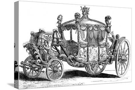 Royal Gold State Coach, 19th Century--Stretched Canvas Print