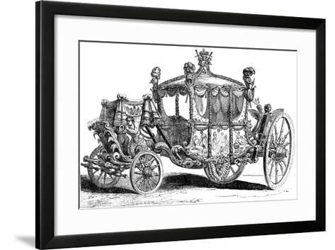Royal Gold State Coach, 19th Century--Framed Art Print