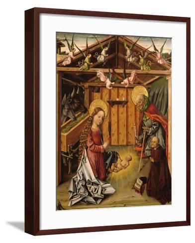 The Nativity (Triptyc), 1467-1500-García del Barco-Framed Art Print