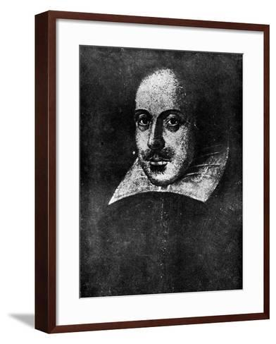 William Shakespeare, English Playwright, 19th Century--Framed Art Print