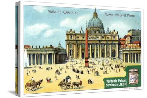 Views of Capitals: St Peter's Square, Rome, C1900--Stretched Canvas Print