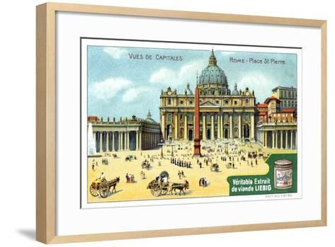 Views of Capitals: St Peter's Square, Rome, C1900--Framed Art Print