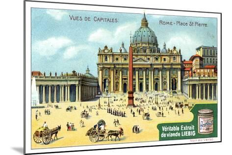 Views of Capitals: St Peter's Square, Rome, C1900--Mounted Giclee Print