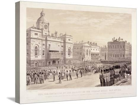 Presentation of the Crimean Medal by Queen Victoria to Colonel Sir Thomas Trowbridge, May 18th 1855-Day & Son-Stretched Canvas Print