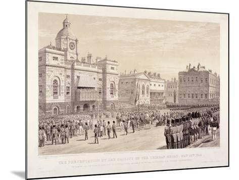 Presentation of the Crimean Medal by Queen Victoria to Colonel Sir Thomas Trowbridge, May 18th 1855-Day & Son-Mounted Giclee Print