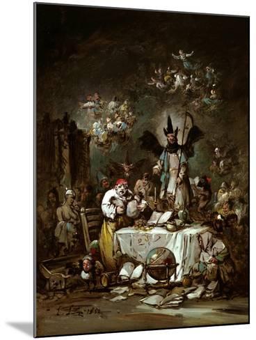 Allegorical Caprice. the Avarice, 1852-Eugenio Lucas Velázquez-Mounted Giclee Print