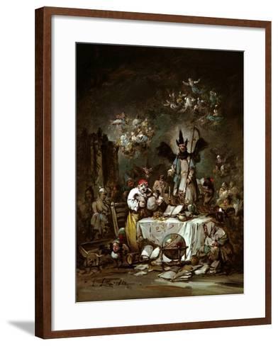 Allegorical Caprice. the Avarice, 1852-Eugenio Lucas Velázquez-Framed Art Print