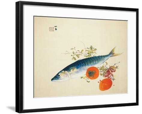 Autumn Fattens Fish and Ripens Wild Fruits, 1925-Takeuchi Seiho-Framed Art Print