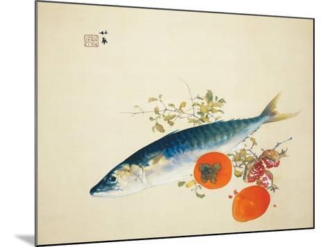 Autumn Fattens Fish and Ripens Wild Fruits, 1925-Takeuchi Seiho-Mounted Giclee Print