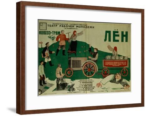 Poster for the Theatre Play Flax, 1931-Fyodor Filippovich Kondratov-Framed Art Print