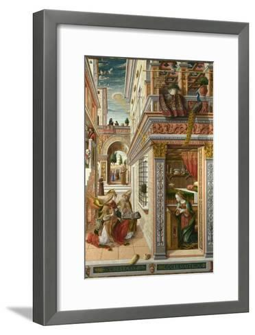 The Annunciation, with Saint Emidius, 1486-Carlo Crivelli-Framed Art Print