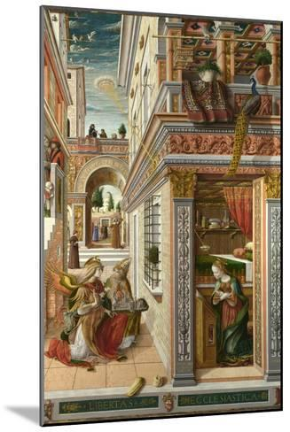 The Annunciation, with Saint Emidius, 1486-Carlo Crivelli-Mounted Giclee Print