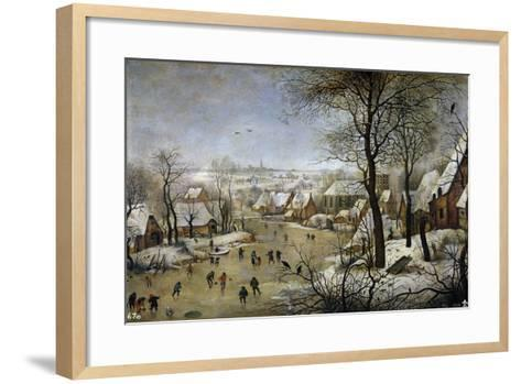 Winter Landscape with a Bird Trap, Ca 1601-Pieter Brueghel the Younger-Framed Art Print
