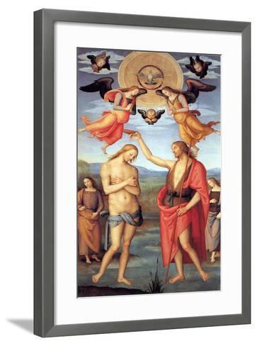 Baptism of Christ, C. 1512-Perugino-Framed Art Print