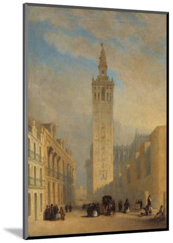 The Giralda Seen from Calle Placentines-Jos? Dom?nguez B?cquer-Mounted Giclee Print