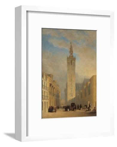 The Giralda Seen from Calle Placentines-Jos? Dom?nguez B?cquer-Framed Art Print