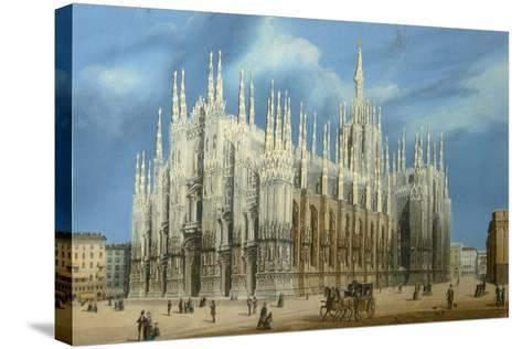 The Milan Cathedral, 1860S--Stretched Canvas Print