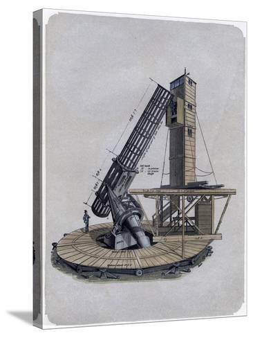 A Newtonian Reflector, 1870--Stretched Canvas Print