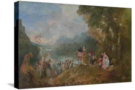Pilgrimage to Cythera (Embarkation for Cyther), 1717-Jean Antoine Watteau-Stretched Canvas Print