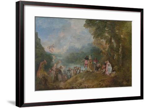 Pilgrimage to Cythera (Embarkation for Cyther), 1717-Jean Antoine Watteau-Framed Art Print