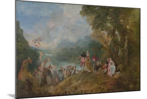 Pilgrimage to Cythera (Embarkation for Cyther), 1717-Jean Antoine Watteau-Mounted Giclee Print