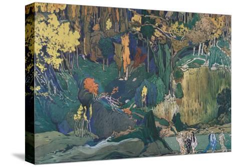 Stage Design for the Ballet the Afternoon of a Faun by C. Debussy, 1912-L?on Bakst-Stretched Canvas Print