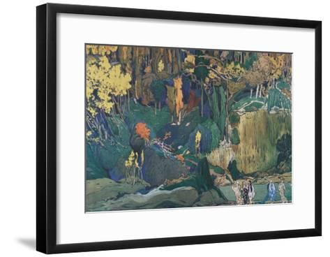 Stage Design for the Ballet the Afternoon of a Faun by C. Debussy, 1912-L?on Bakst-Framed Art Print