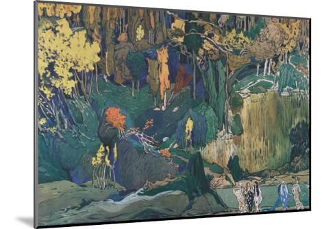 Stage Design for the Ballet the Afternoon of a Faun by C. Debussy, 1912-L?on Bakst-Mounted Giclee Print