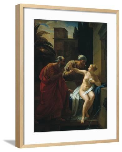 Susannah and the Elders, 1822-Pyotr Vasilyevich Basin-Framed Art Print