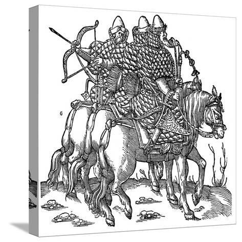 Mounted Muscovite Warriors, 1556--Stretched Canvas Print