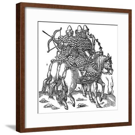 Mounted Muscovite Warriors, 1556--Framed Art Print