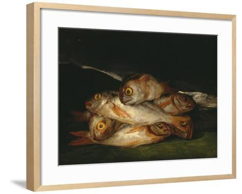 Still Life with Golden Bream, 1808-1812-Francisco de Goya-Framed Art Print