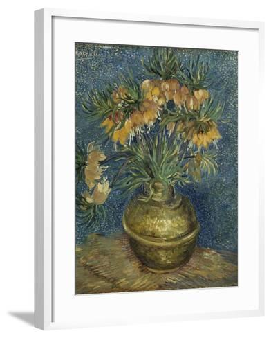 Imperial Fritillaries in a Copper Vase, 1887-Vincent van Gogh-Framed Art Print