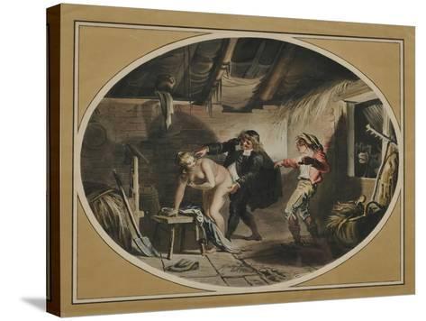 La Jument Du Compère Pierre (After the Poem by Jean De La Fontain), 1800-Johann Heinrich Ramberg-Stretched Canvas Print