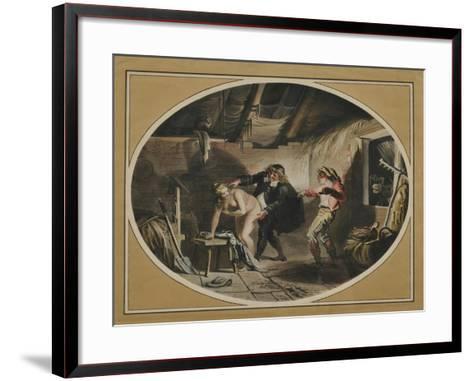 La Jument Du Compère Pierre (After the Poem by Jean De La Fontain), 1800-Johann Heinrich Ramberg-Framed Art Print