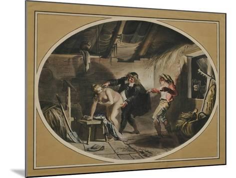 La Jument Du Compère Pierre (After the Poem by Jean De La Fontain), 1800-Johann Heinrich Ramberg-Mounted Giclee Print
