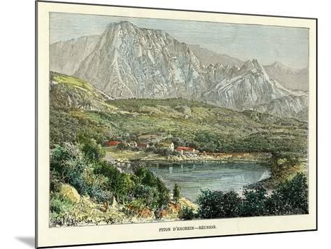 Piton D' Enchein, Reunion, C1880-Taylor-Mounted Giclee Print