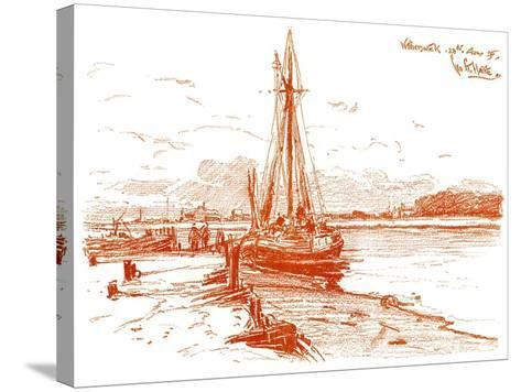 A Sketch at Walberswick, 1899-George Charles Haite-Stretched Canvas Print