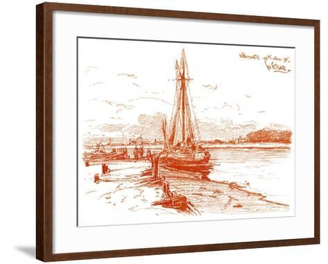 A Sketch at Walberswick, 1899-George Charles Haite-Framed Art Print