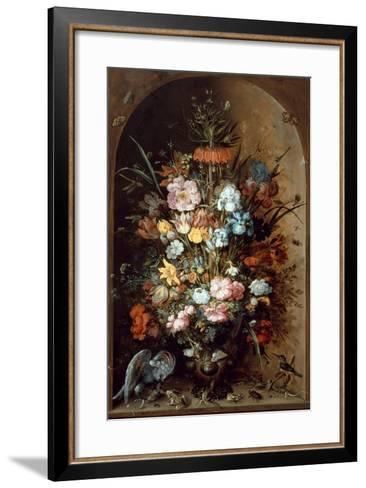 Flower Still Life with Crown Imperial, 1624-Roelant Savery-Framed Art Print